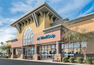 Medical supplies building in attractive new mall