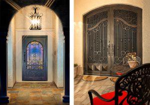 Homes with designer steel front doors